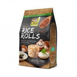 Rýžové minichlebíčky houby, smetana, olivový olej Rice Up 50 g