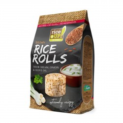 Rýžové minichlebíčky smetana, cibule, olivový olej Rice Up 50 g