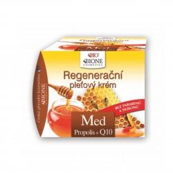 Regenerační pleťový krém MED + propolis + Q10 Bione Cosmetics 51 ml