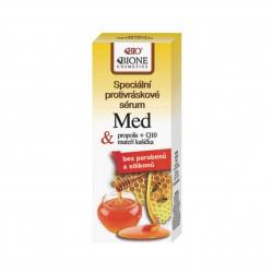 Speciální protivráskové sérum MED + propolis + Q10 + mateří kašička Bione Cosmetics 40 ml