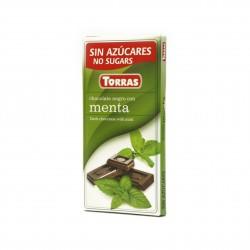 Hořká čokoláda s mátou Torras 75g