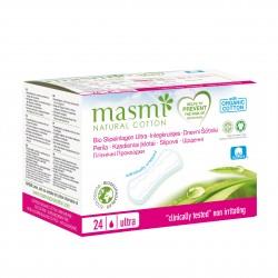 Vložky slipové ultratenké z organické bavlny 24ks Masmi