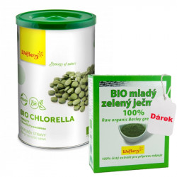 Chlorella Wolfberry BIO 250 g 1200 tbl + dárek Mladý ječmen