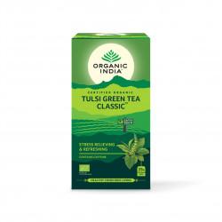 Tulsi se zeleným čajem Organic India BIO 25 sáčků