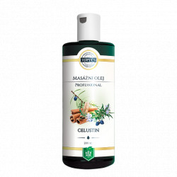 Celustin - masážní olej 200ml Topvet
