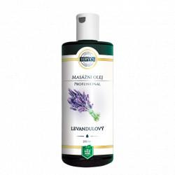 Levandulový masážní olej 200ml Topvet