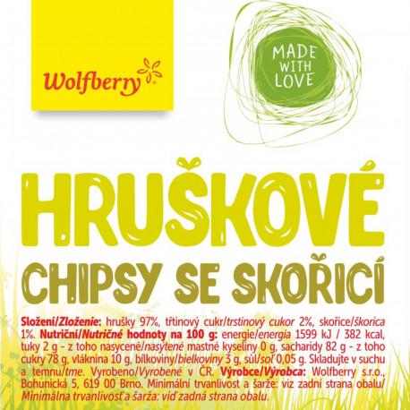 Hruškové chipsy se skořicí 50 g Wolfberry