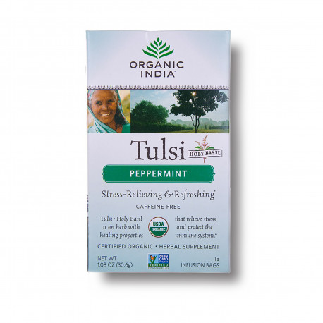 Tulsi s mátou Organic India BIO 18 sáčků EXP 23.7.