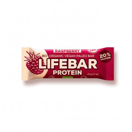 Lifebar protein malinová BIO 47 g Lifefood EXP 15.8.