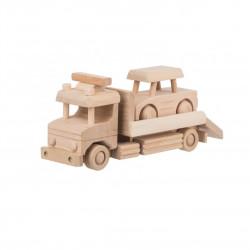 Dřevěná odtahovka s autíčkem Čisté Dřevo