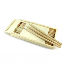 Dřevěné pastelky - sada 12ks Čisté Dřevo