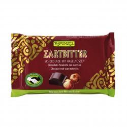 Čokoláda hořká s lískovýmí oříšky Rapunzel BIO 100 g