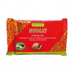 Čokoláda mléčná s nugátovou náplní Rapunzel BIO 100 g